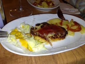 Hamburguesa de gambas y jamón