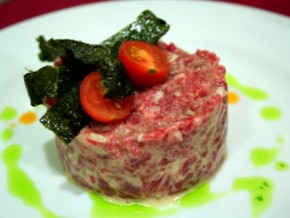Tapa de Tartar de solomillo