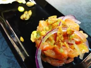 Tapa de Tartar de salmón