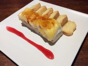 Tapa de Delicia de Foie, queso y manzana caramelizada