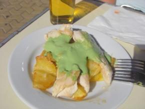 Pechuga a la mostaza verde